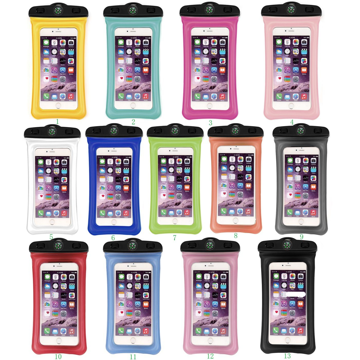 super popular 0d0ff 777da Universal Waterproof Case with Lanyard - Best Water Proof, Dustproof,  Shockproof Pouch Bag for iPhone X 8 Plus Samsung Galaxy S10 and All Smart  Phone
