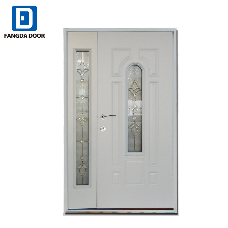 China Commercial Household Steel Double Entry Glass Metal Door