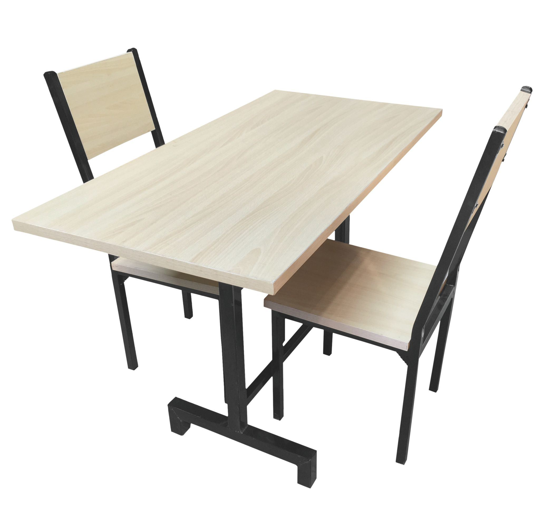 China Modern Regular 50 Square Dining Table Set 1 Table With 2 Chairs Metal Leg With Top Board Cheap Dining Set Retangle Table Set China Dining Table Wooden Board Table