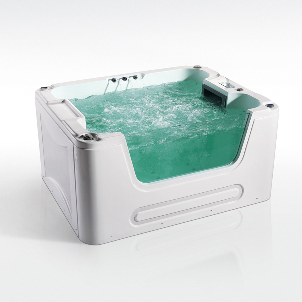 China Manufacturer Beauty Design with Glass Sides Freestanding SPA ...