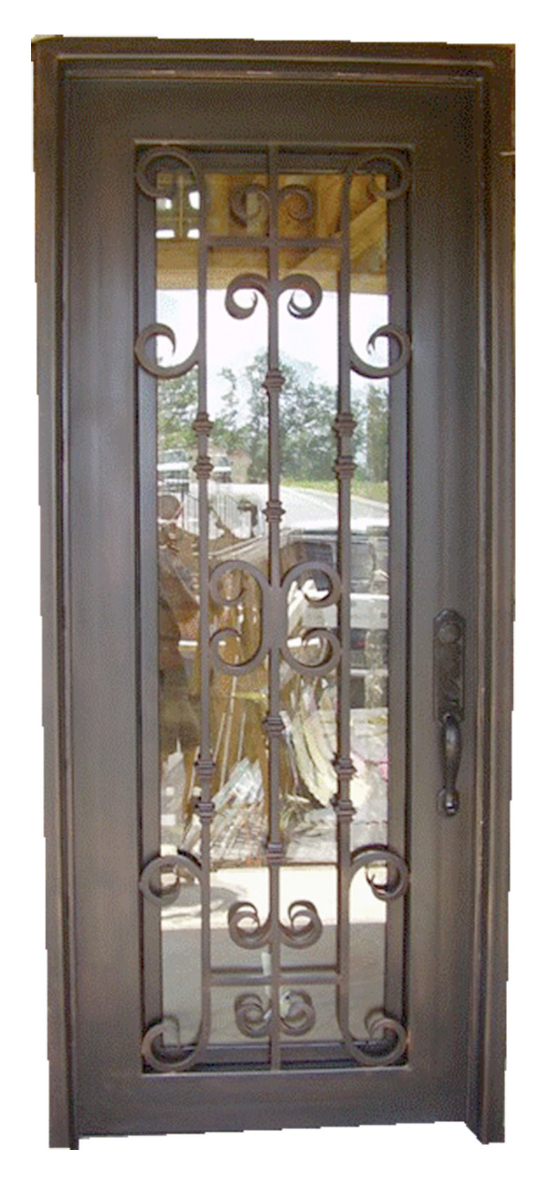 China Wholesales Interior Wrought Iron America Cellar Entry Door