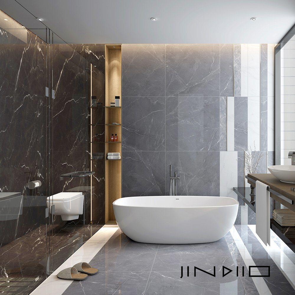 hot item modern bathroom shower floor calacatta 24x24 white porcelain tile