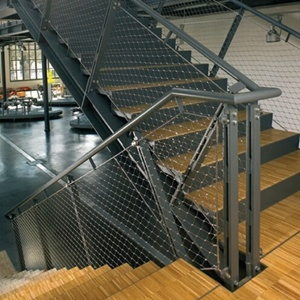 China Supply Inox Line Cable Mesh For Staircases, Stainless Steel Cable Mesh  For Stair Railing Infill