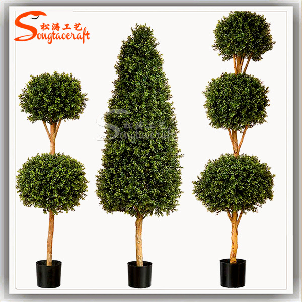 Agree, artificial topiary trees with