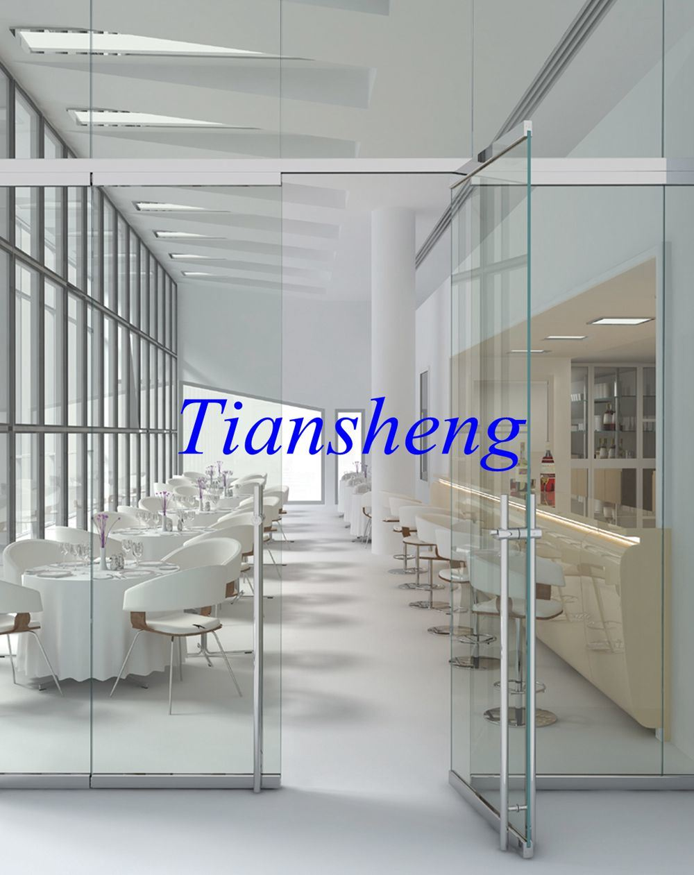 China Frameless Pivot Entry Door Multifold Glass Door Concertina Folding Door Photos Pictures Made In China Com