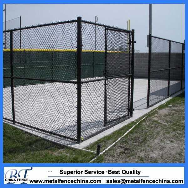 China Black Vinyl Coated Chain Link Wire Mesh Fabric - China PVC ...