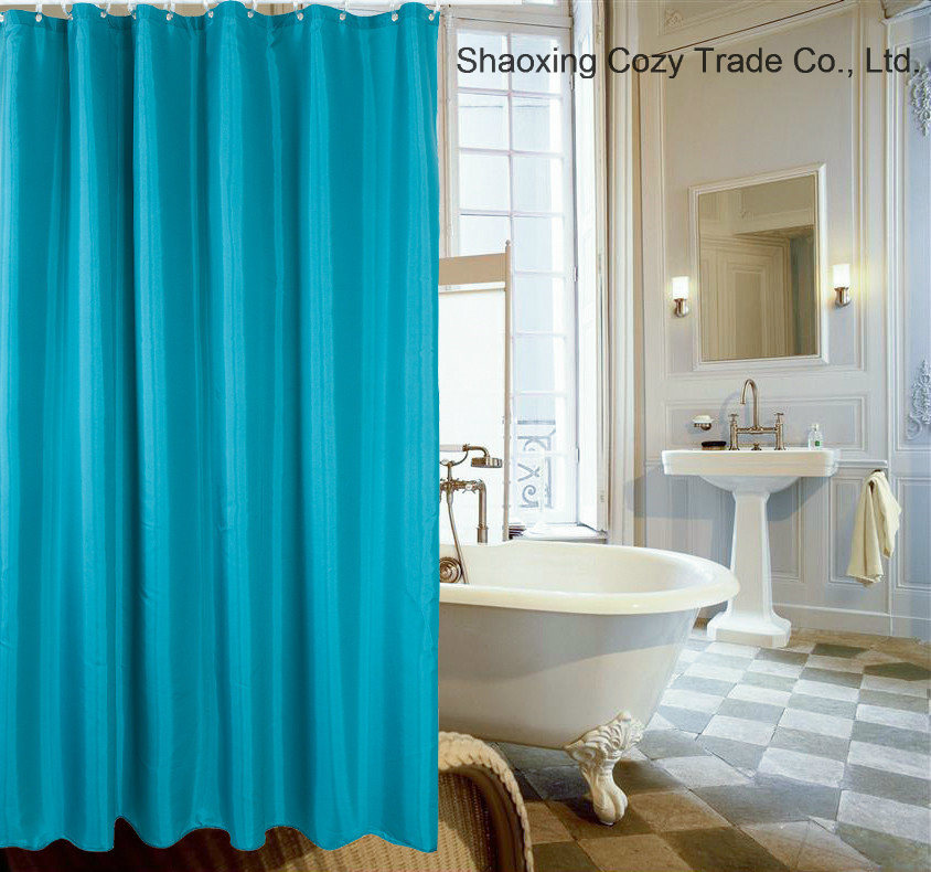 Bulk Sale to Walmart, Cheap Price with Good Quality 100%Polyester Shower Curtain