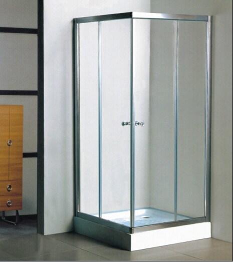 China 304ss Frame Corner Open Square Bathroom Shower