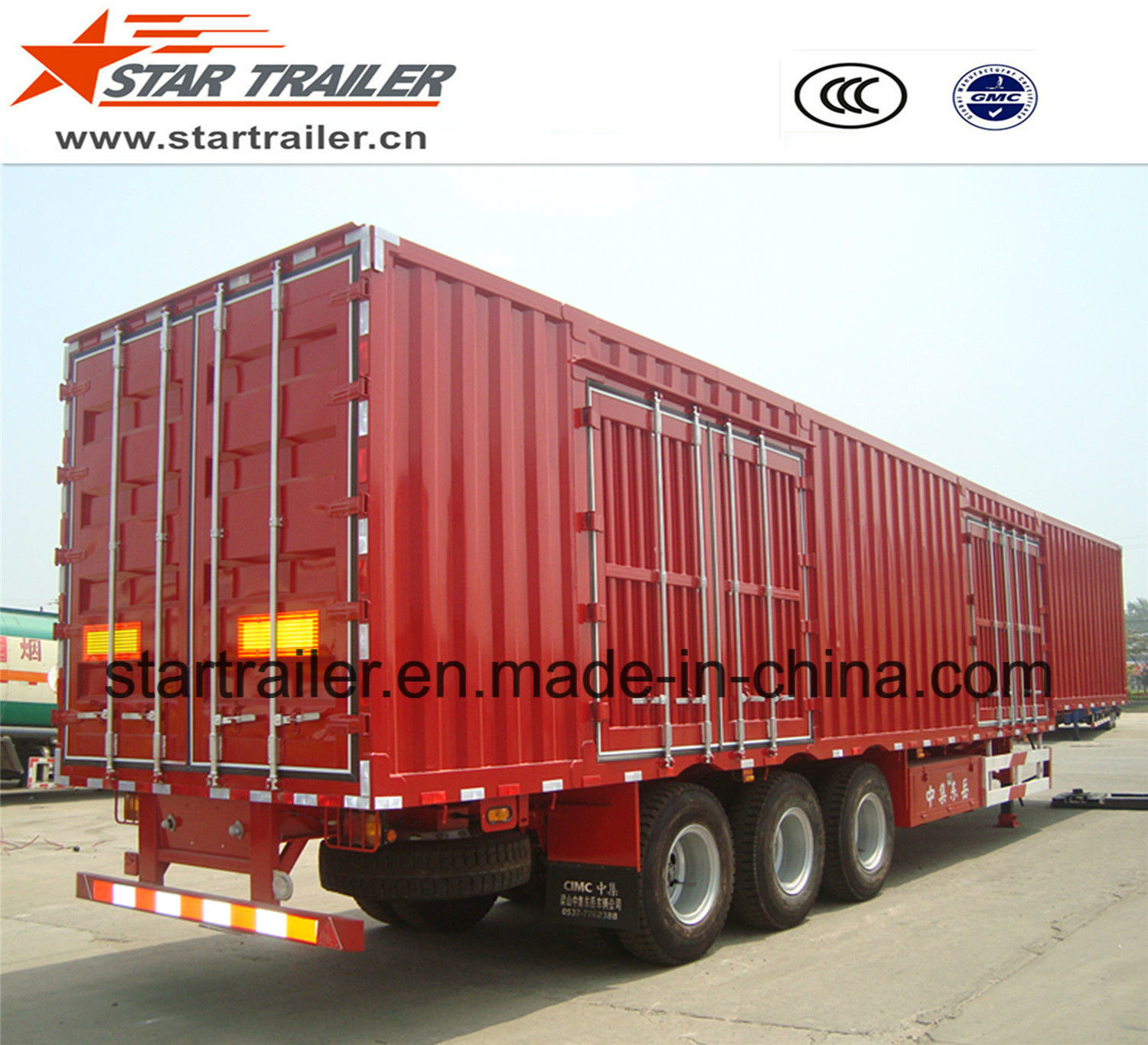3 Axles Van Type Cargo Trailer