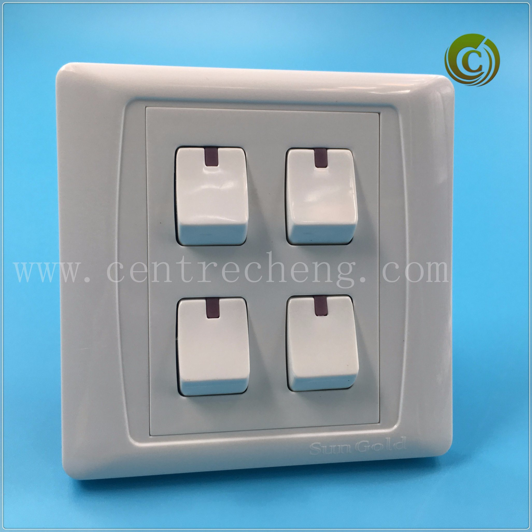 China White Wall Switch 4 Gang 2way Foshan - China European ...