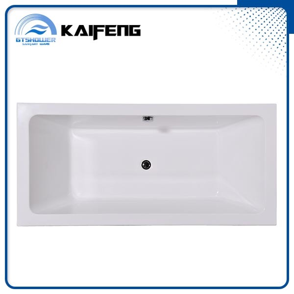 Elegant Rectangle Plain Bathtub (KF-718K) pictures & photos