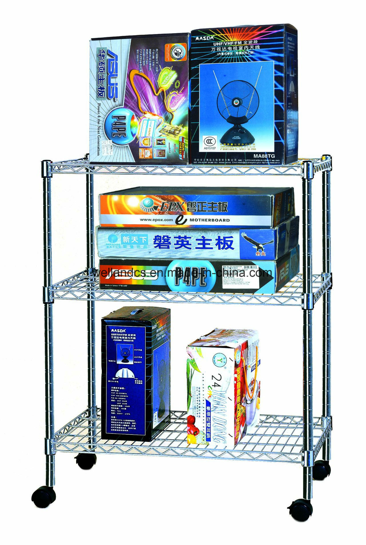 China Convenient Adjustable Commercial Wire Shelf Rack for Store ...