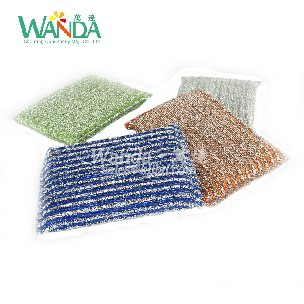 Scouring Sponge Pad Jacquard Sponge Scrubber for Kitchen Cleaning pictures & photos