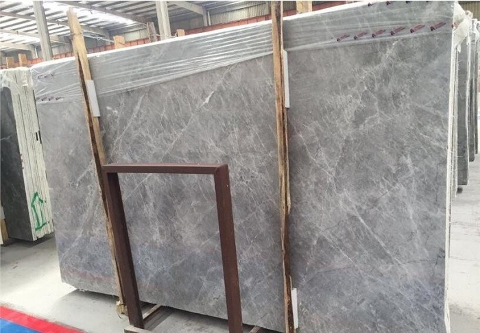 Polished Natural Stones Silver Eagle Grey Marble Tiles For Kitchen Hall
