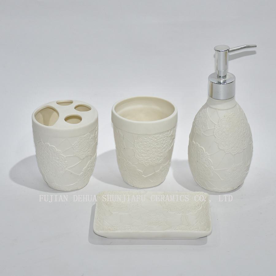 China 4 Piece White Ceramic Bathroom Set - China Bathroom Set ...