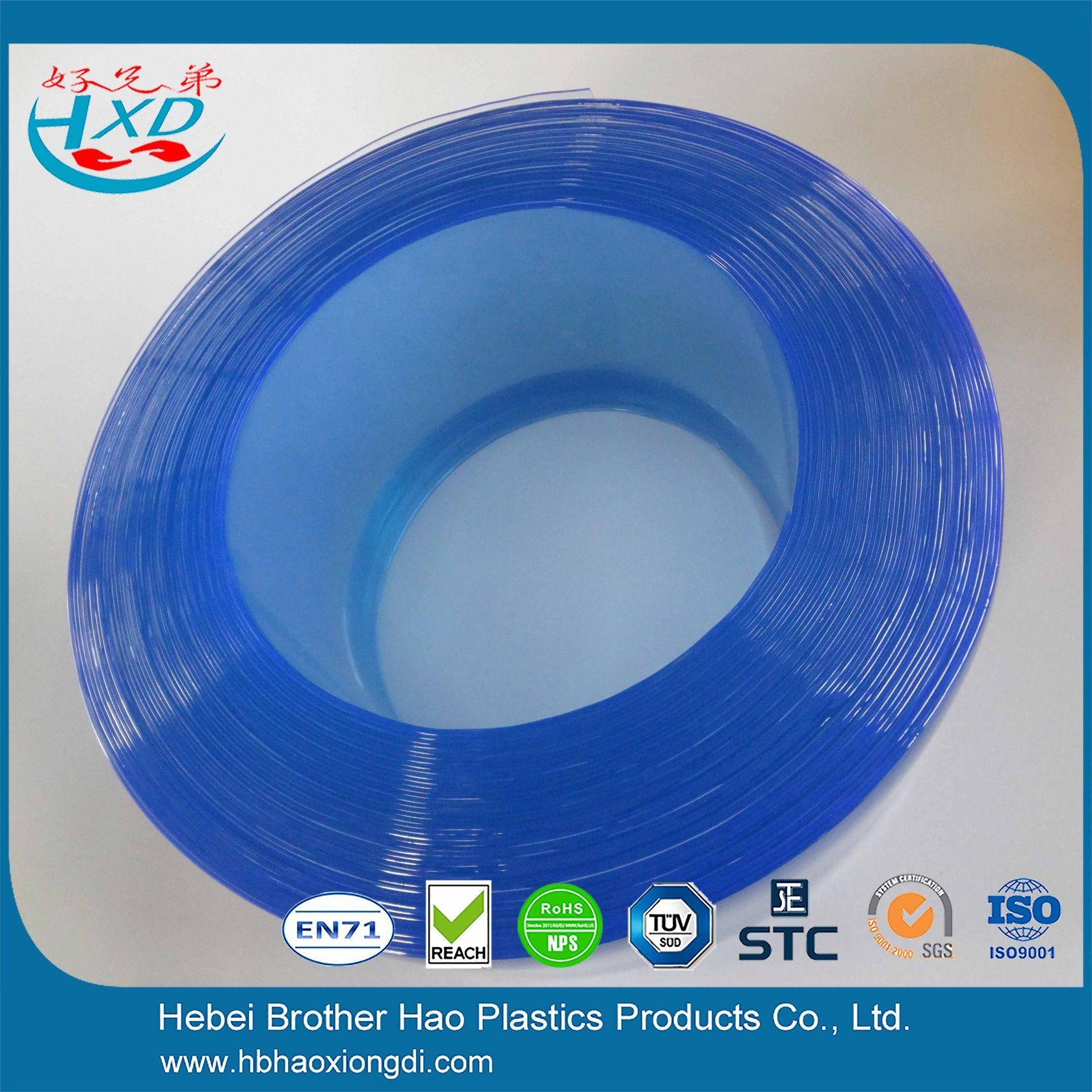 China 5mm Thick Blue ESD Flat Soft Plastic Air Door Strip Curtain ...