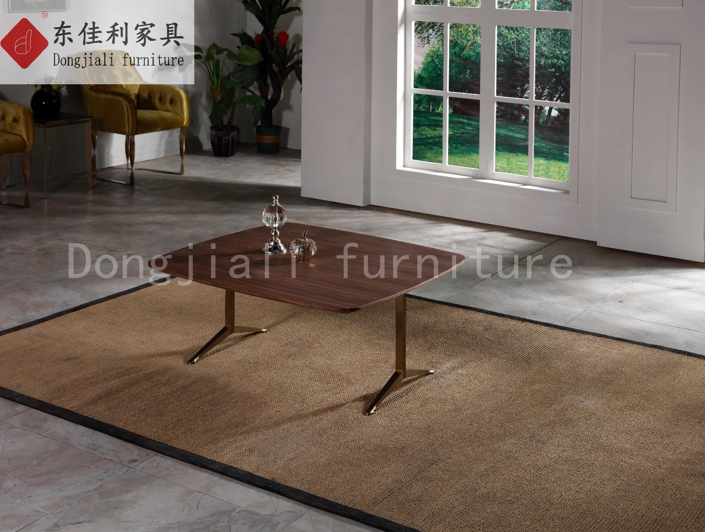 Morden Coffee Table with Wooden Top