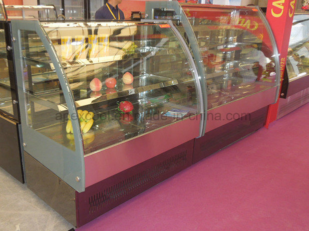 New Design Cake Showcase with Stainless Steel Base 2 Shelf for Cake display pictures & photos