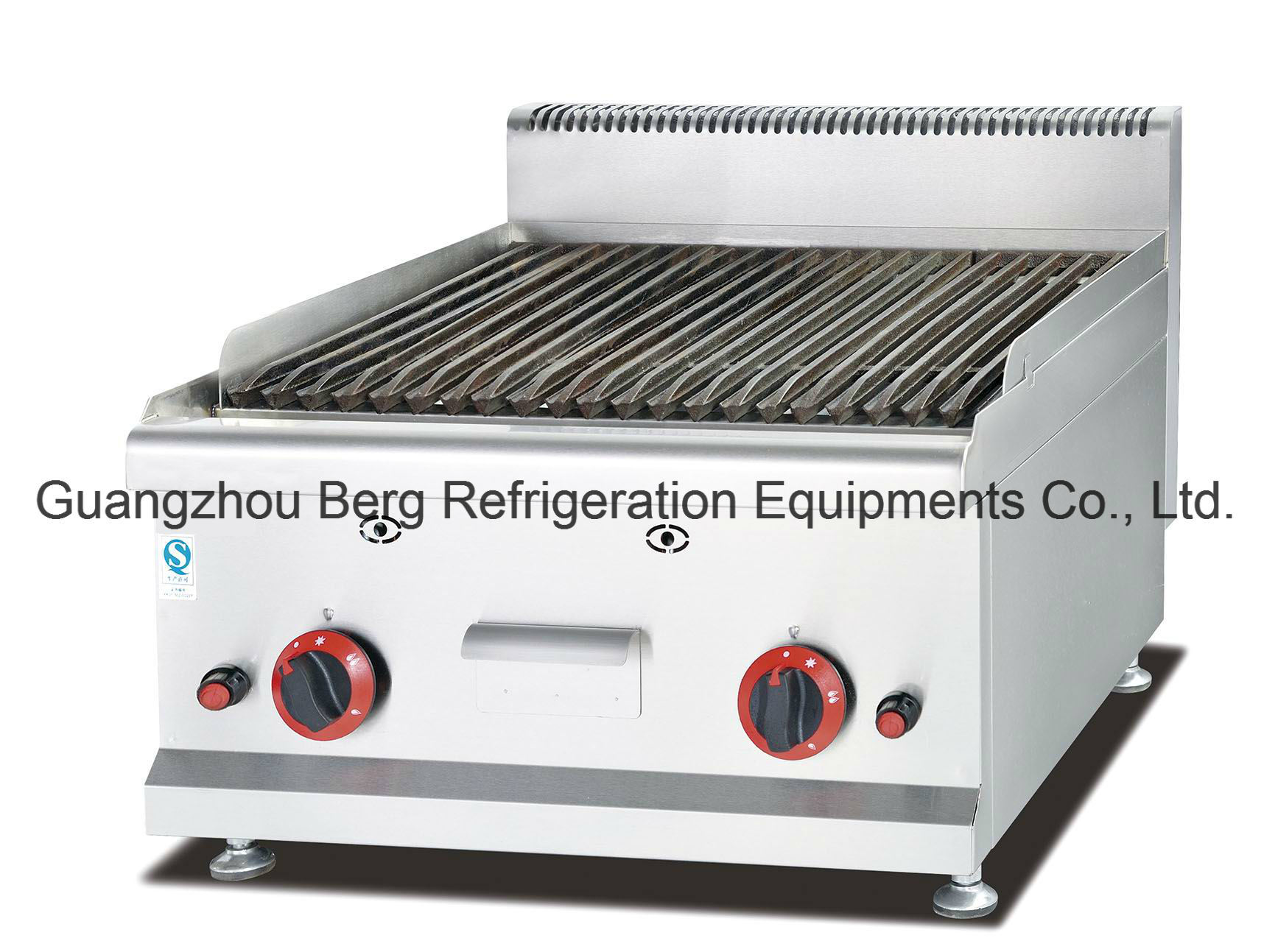 china high quality stainless steel counter top gas lava rock grill