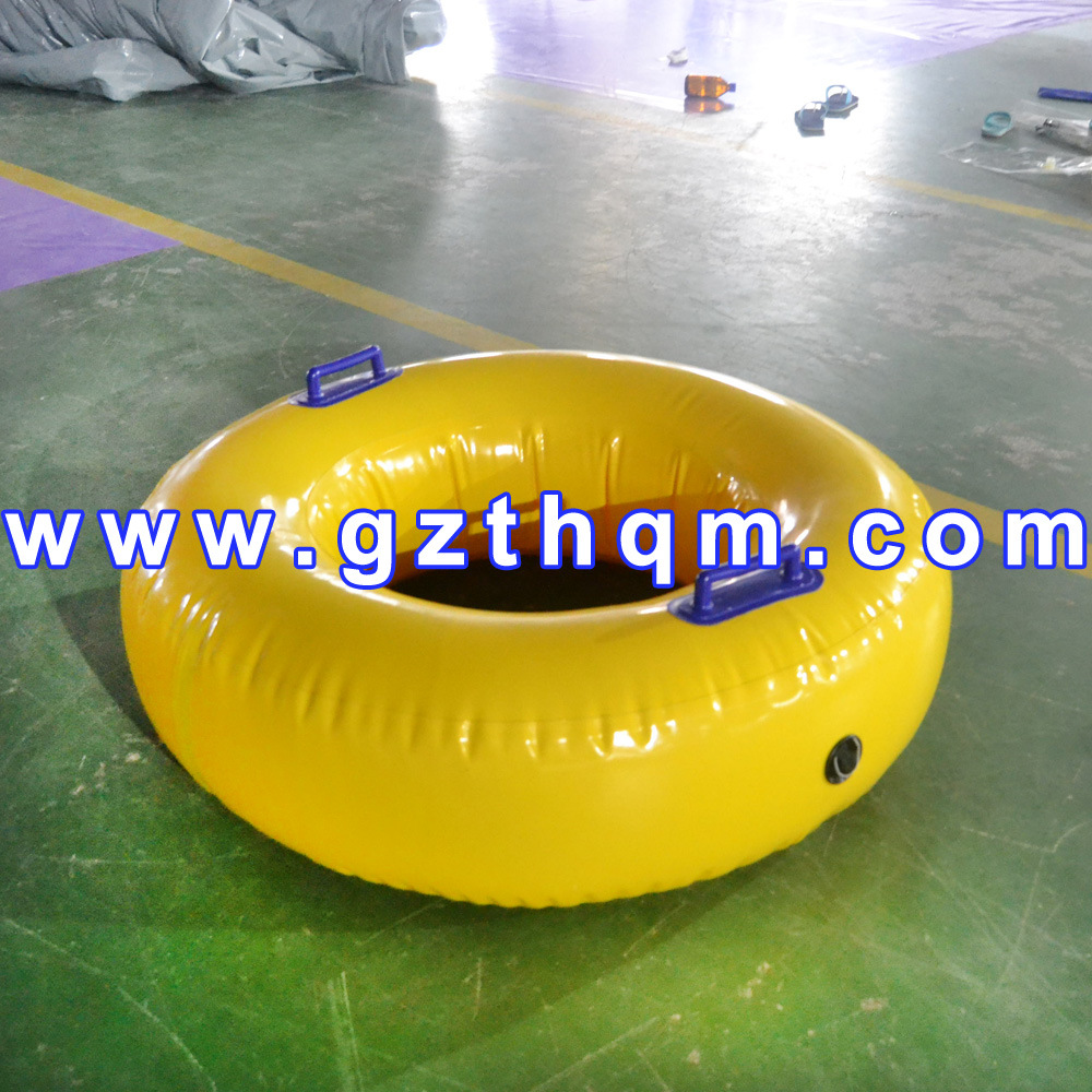 Durable Printing Adult Inflatable Pool Toys/Big Yellow Inflatable Swim Ring