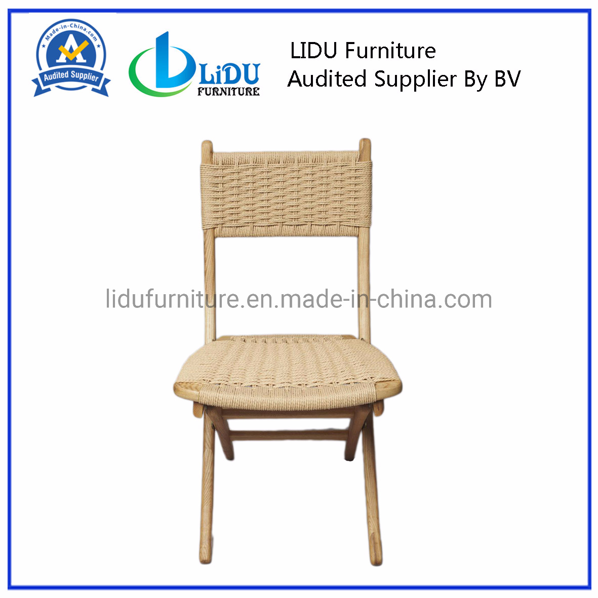 Peachy China Classic Of Mid Century Folding Rope Chairs Solid Wood Ocoug Best Dining Table And Chair Ideas Images Ocougorg