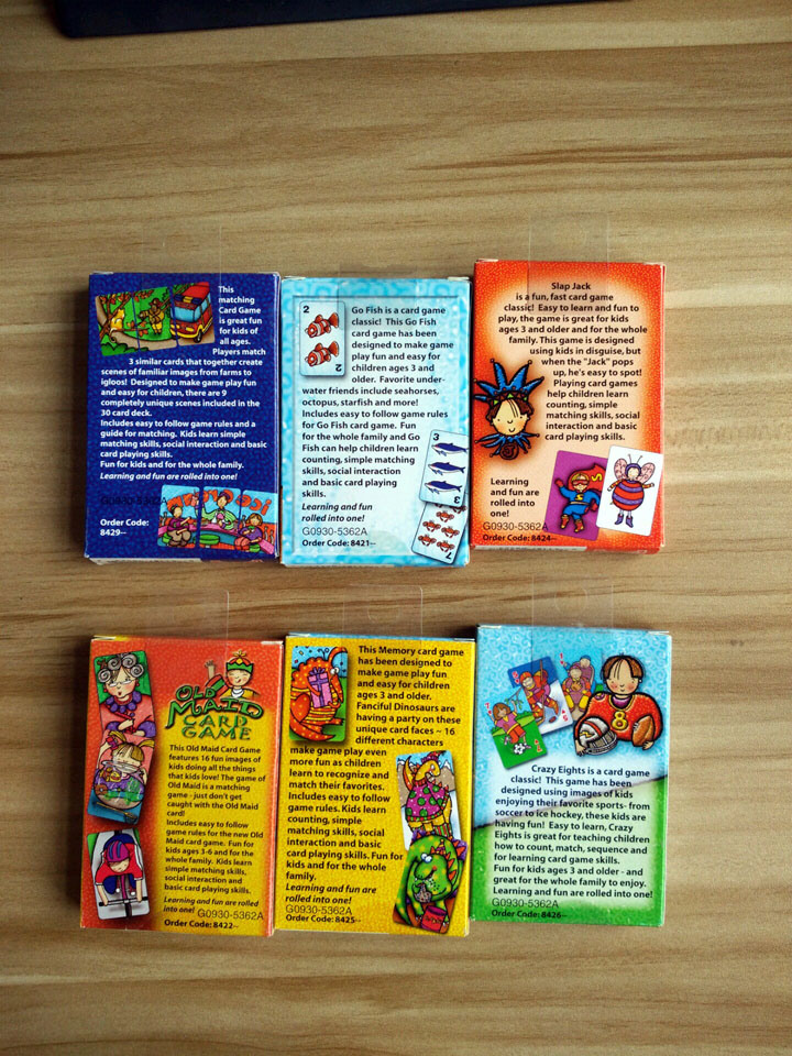 China Kids Card Games Set Paper Playing Cards Photos Pictures