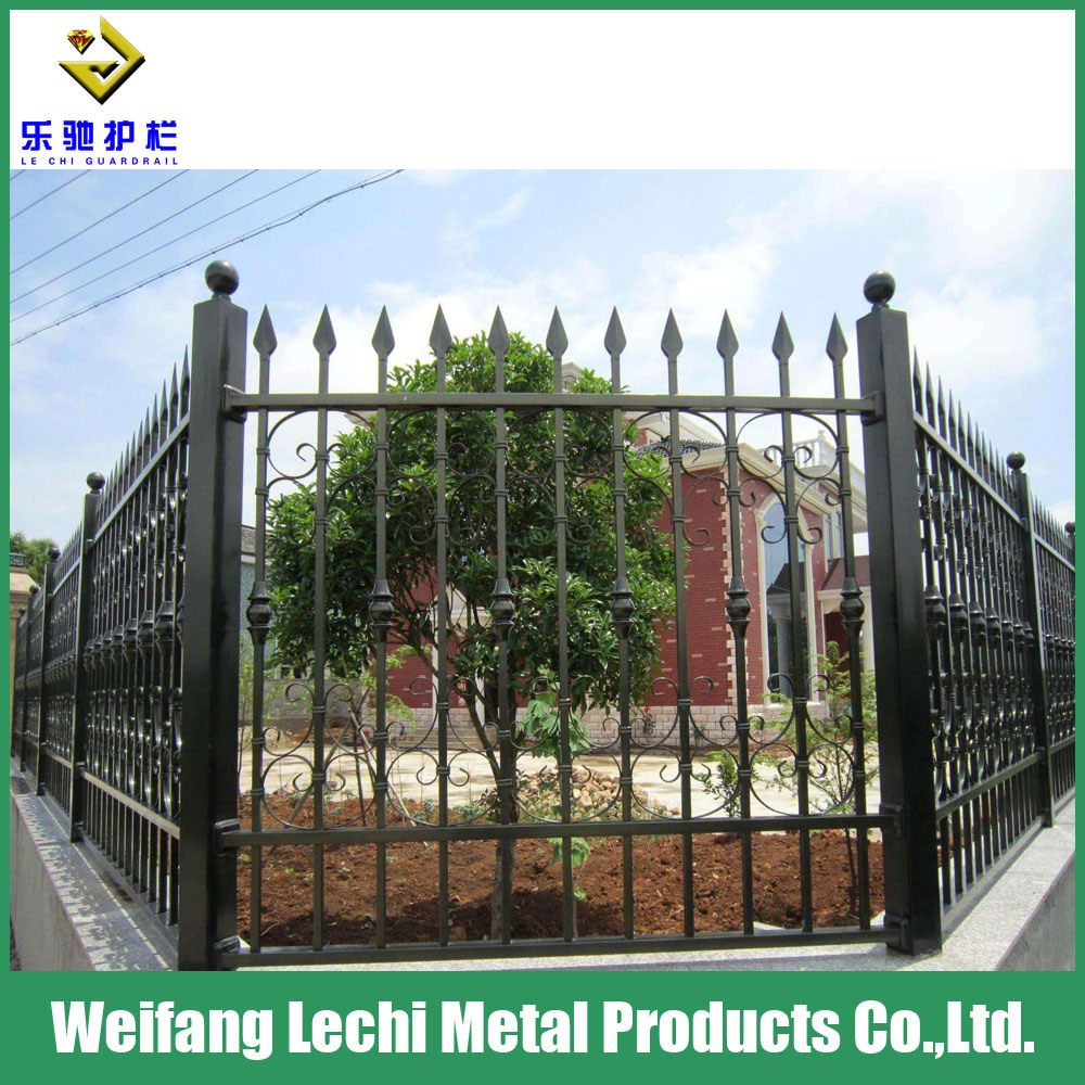 China Security Iron Fence Decorative Customized Steel Garden For Residential House Lawn Park Playground Yard Factory Coated