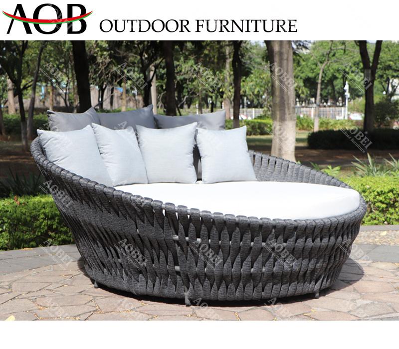 Modern Outdoor Garden Hotel Resort, Large Round Sofa Bed