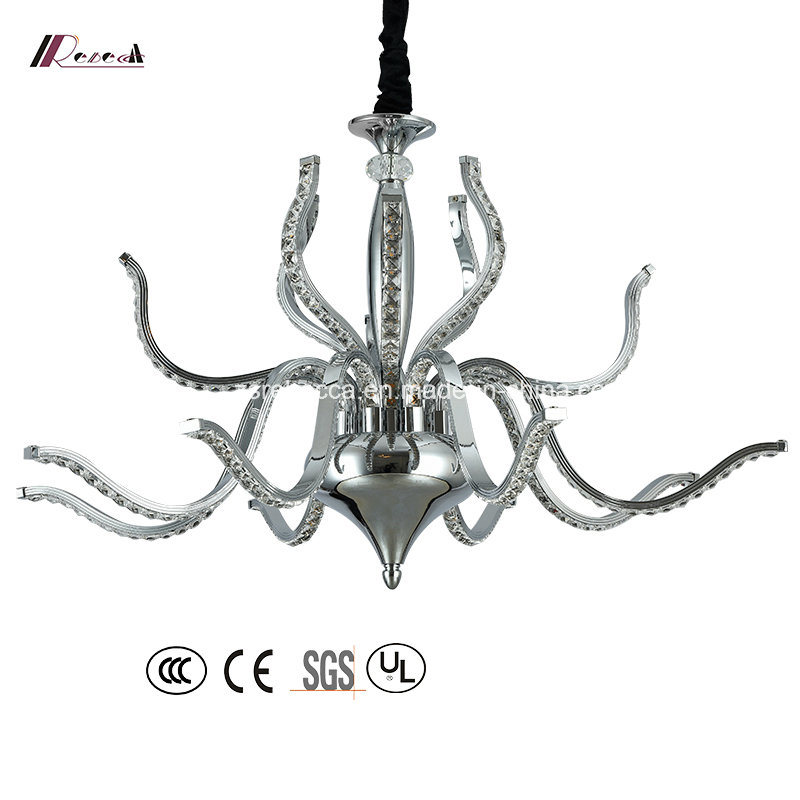 Modern Crystal Chandelier Light with Stainless Steel Ceiling Lamp pictures & photos