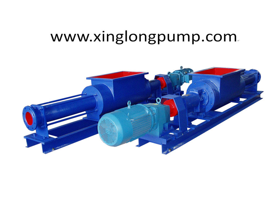 Single Screw Pump with a Rectangle Feeding Hopper