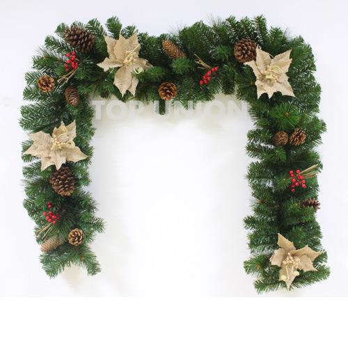 China Christmas Decoration Artificial Christmas Garland Tt9502