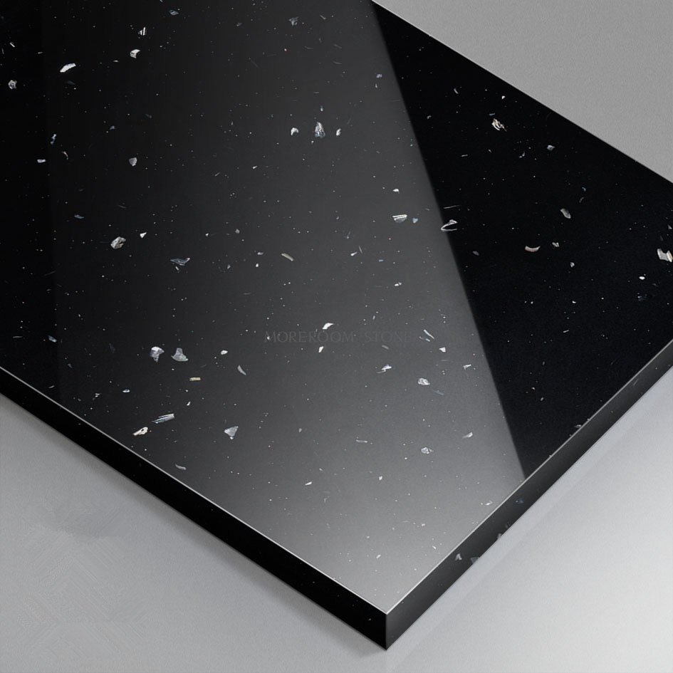China Foshan Black Color Modified Corian Solid Surface