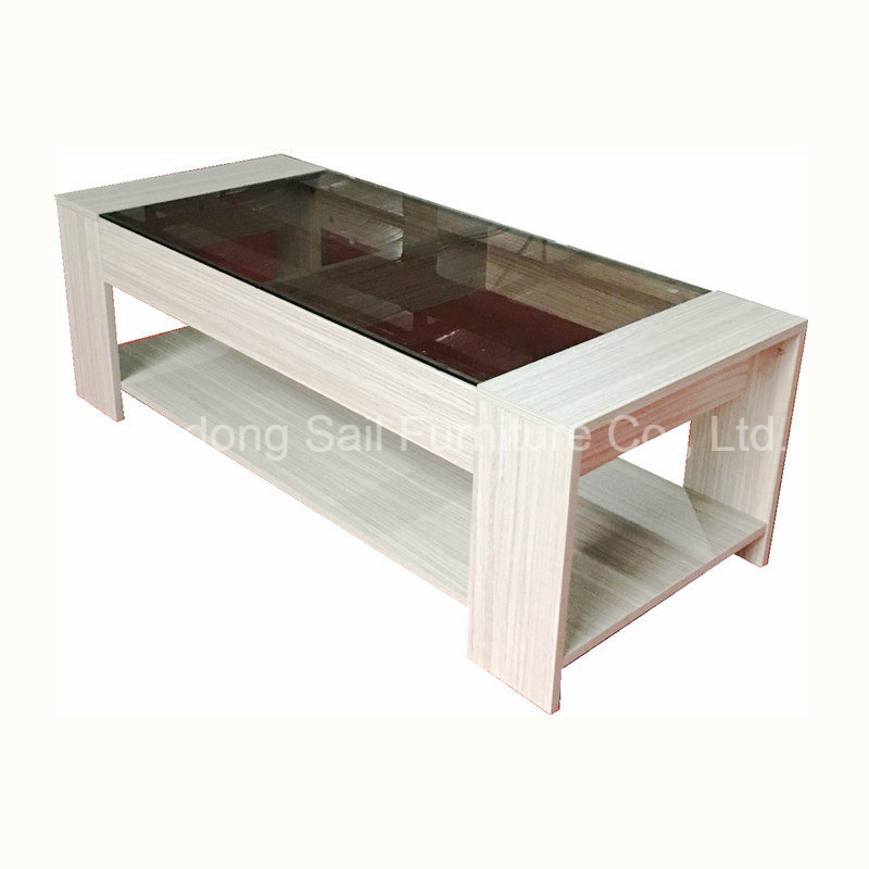 Wooden Coffee Table.Hot Item Glass Top Wooden Coffee Table