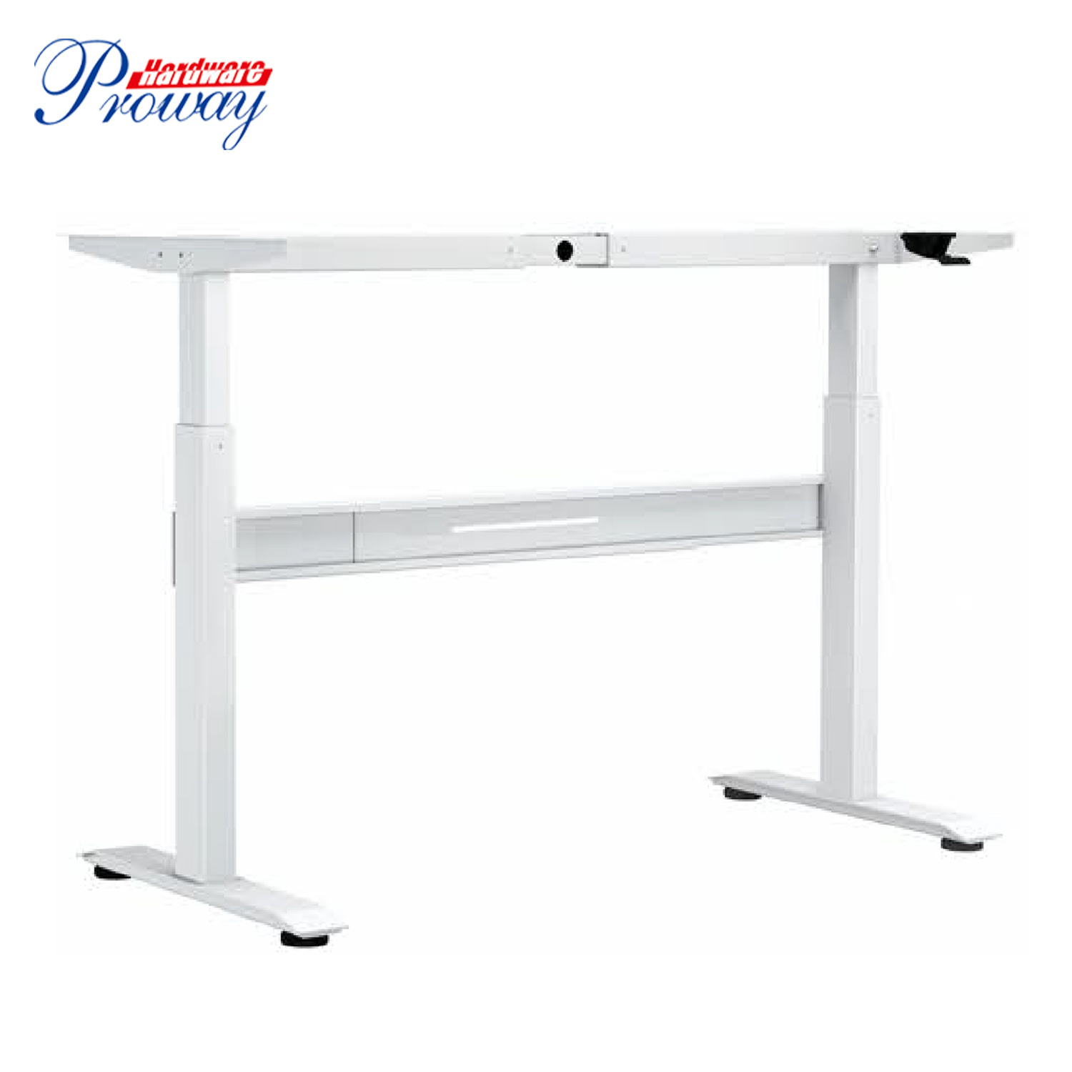 [Hot Item] Pneumatic Height Adjustable Standing Office Desk with Folding  Legs