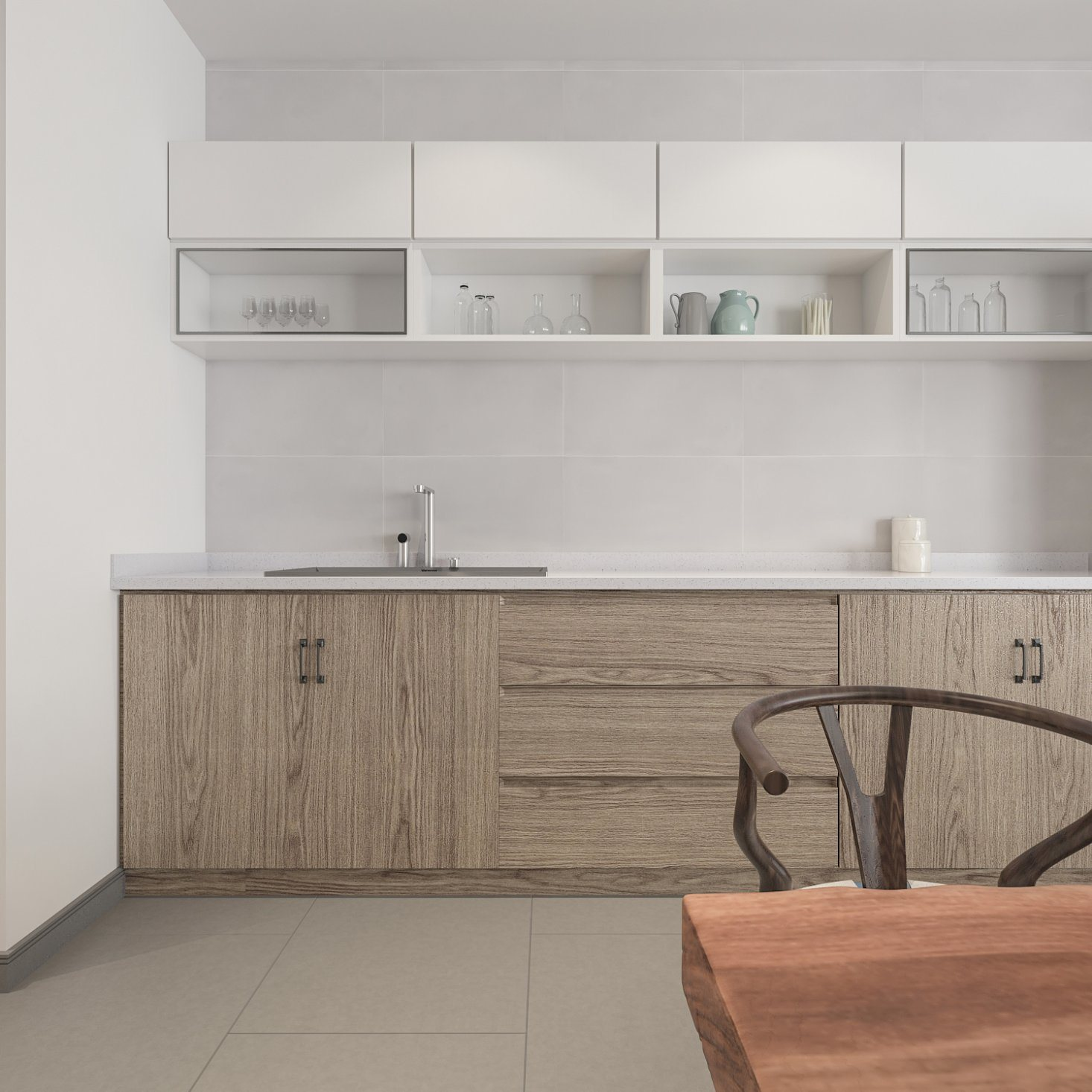 - China Rectangular Ceramic 30X60cm Modern White Tile Backsplash