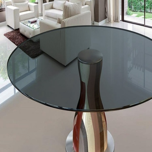hot item round rect colored tempered glass table top for home decoration