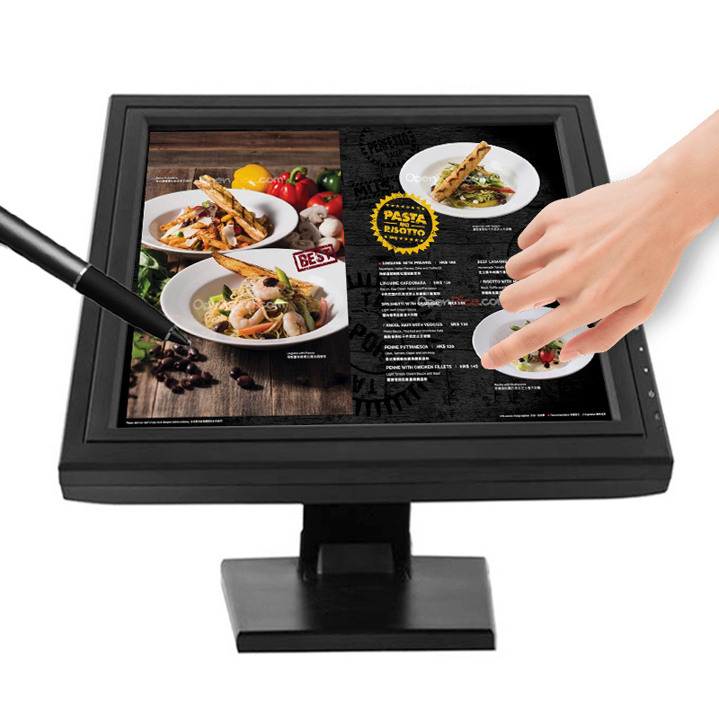 12 Inch Resistive Touch Screen Monitor with HDMI DVI USB