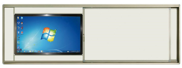 Ceramic Surface And Silver Frame Sliding Whiteboard For Tv