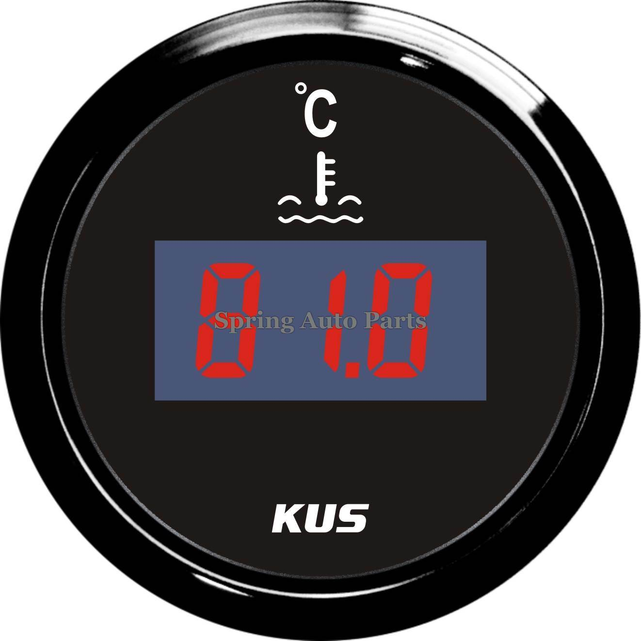 Popular 52mm Digital Water Temp Gauge Meter with Temp Sensor