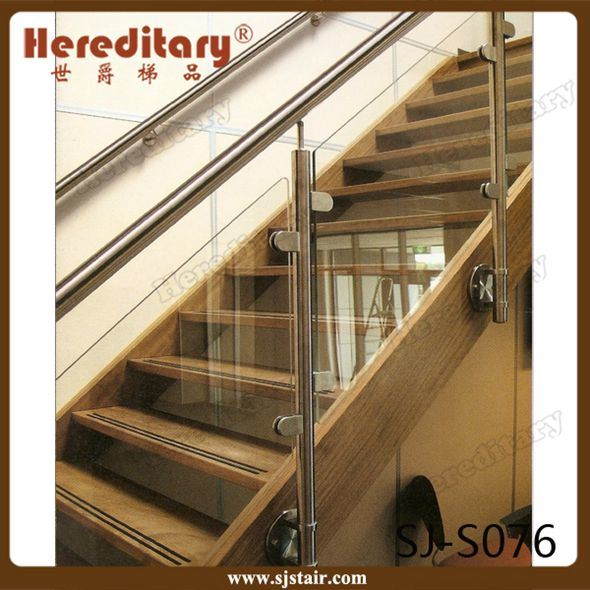 China Side Mounting Stainless Steel Gl Stair Railing Barade