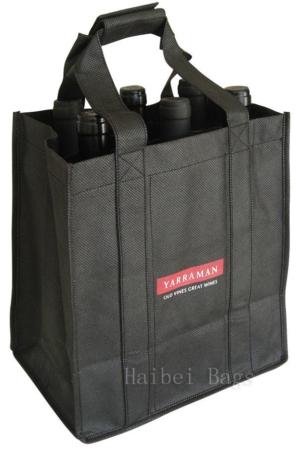 Hot Item Ecological Six Bottle Wine Bag Hbnb 510