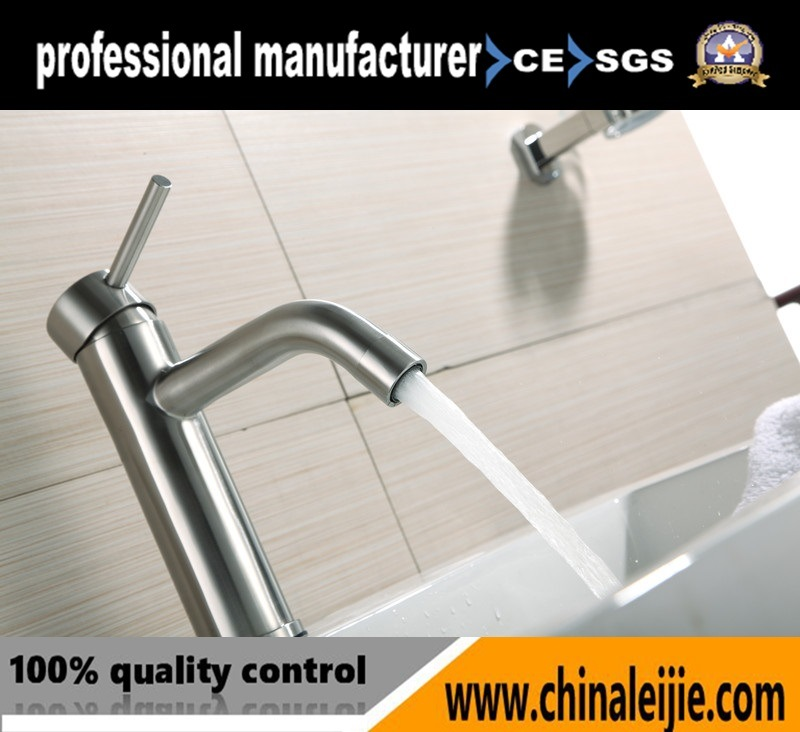 Stainless Steel Square Basin Water Tap Waterfall Faucet for Bathroom pictures & photos