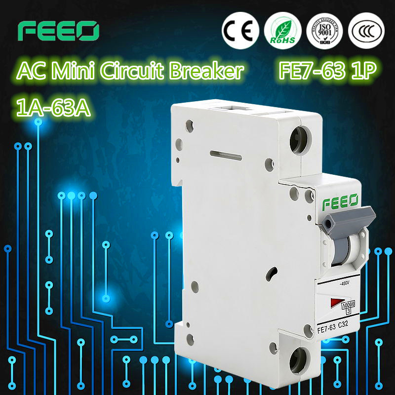 China 3p Fe7 63 Ac Mcb Electrical Symbol Circuit Breaker Photos
