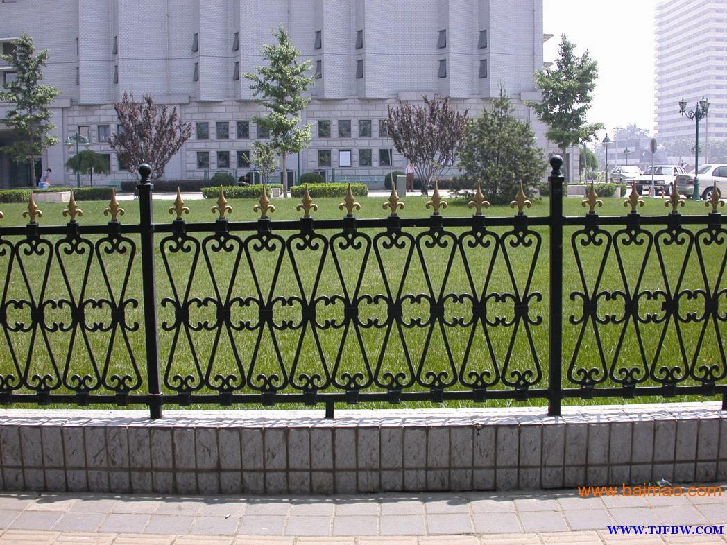 Decorative Wrought Iron Garden Fence