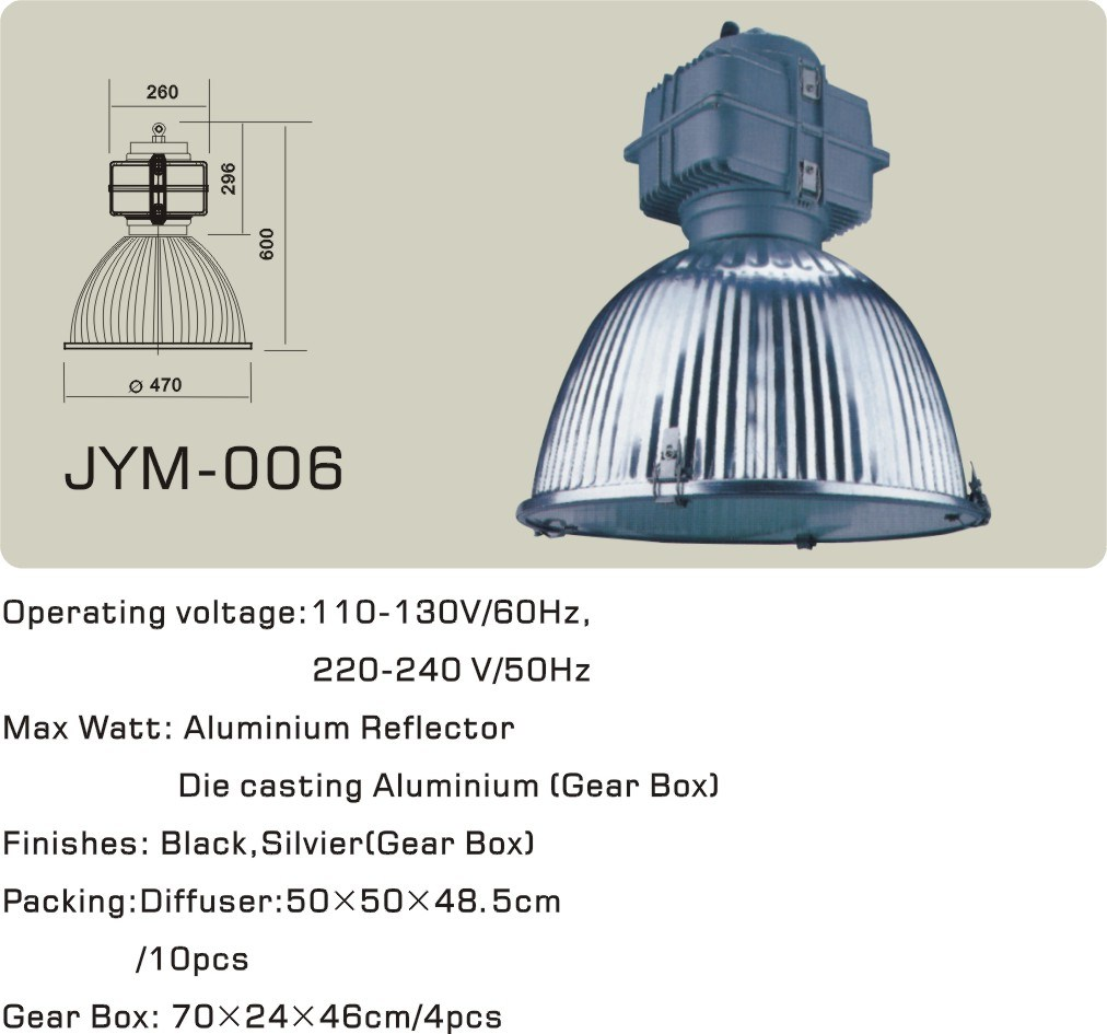 China Aluminium Reflector High And Low Bay Light For Metal