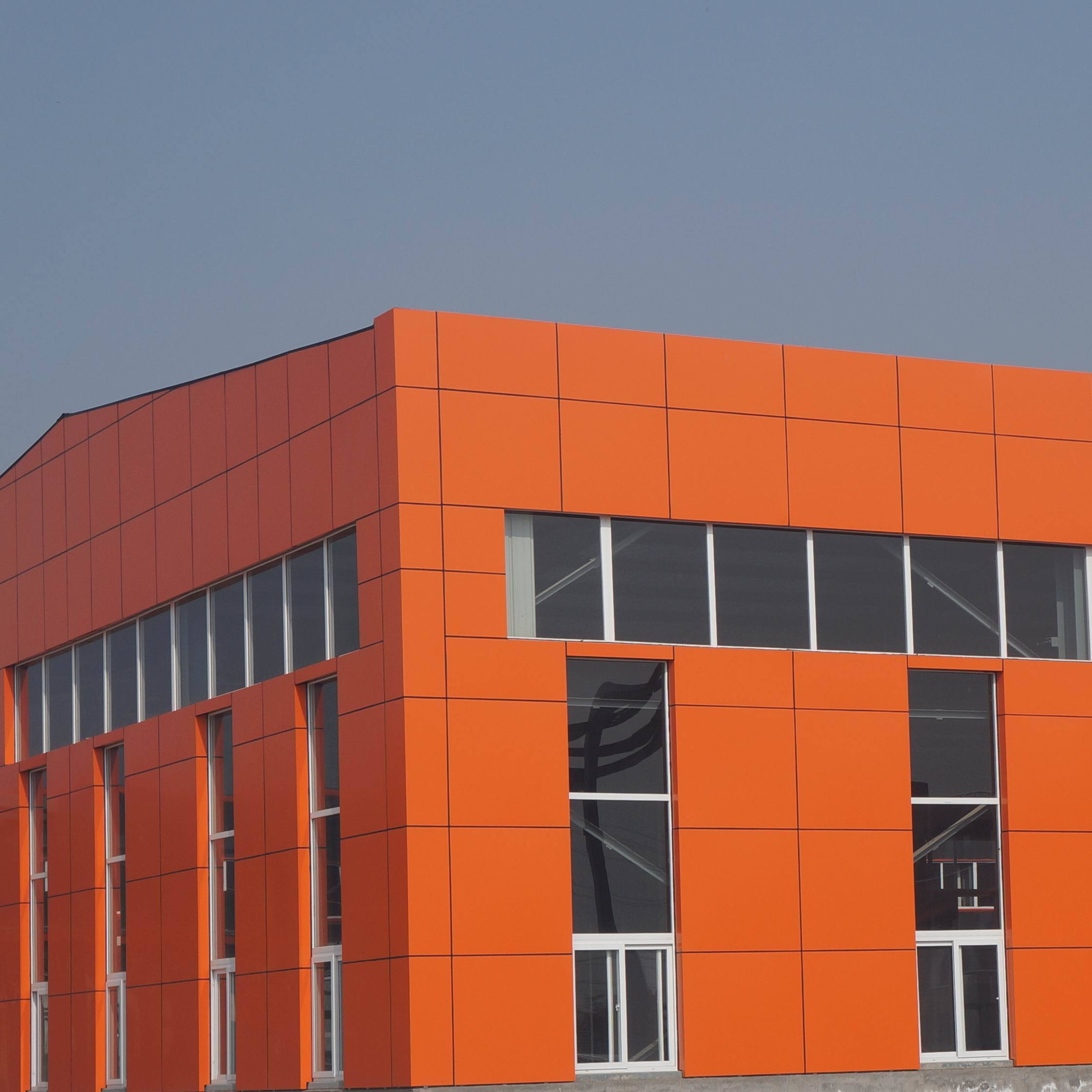 china orange color prefabricated aluminum panels for cladding and decoration of facades