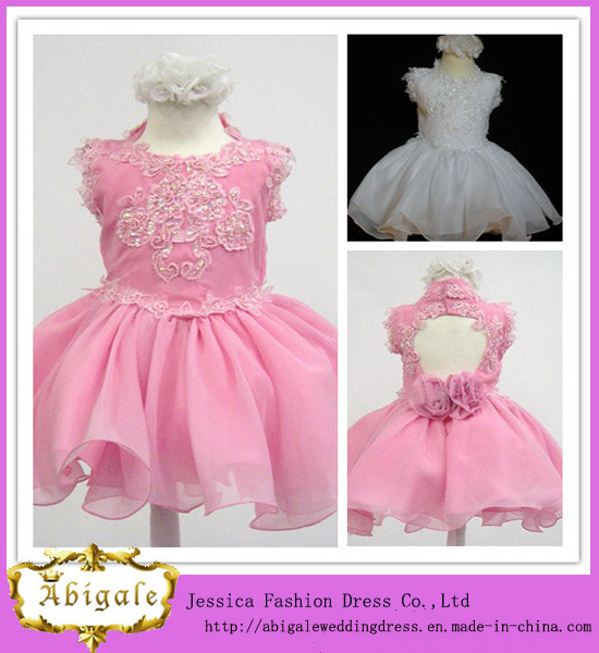 China Cute Ball Gown Organza Appliqued with Handmade Flower Kids ...