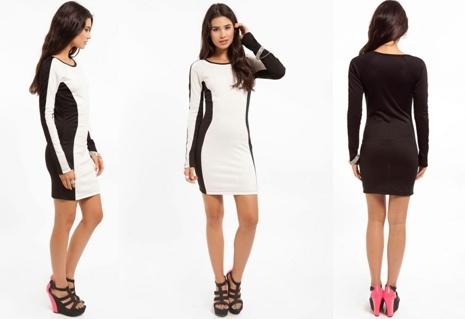 cb5d7133491b China UK Long Sleeve Black & White Fashion Ladies MIDI Bodycon Dresses  (HSS-303) - China Women Clothes, Dress