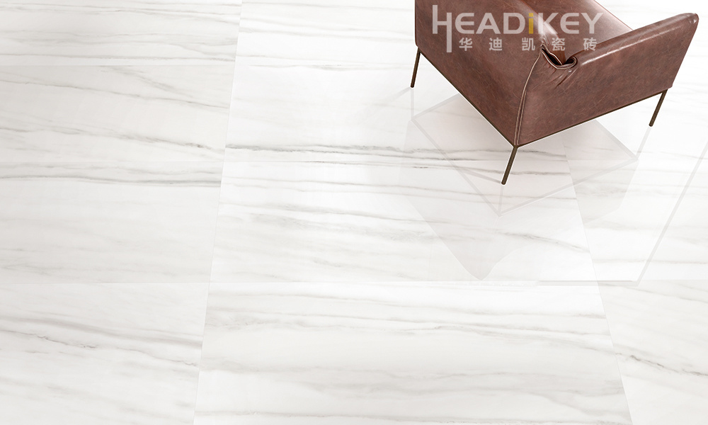 Hot Sale White Marble Polished Porcelain Tile for Floor Home Decoration 600X1200