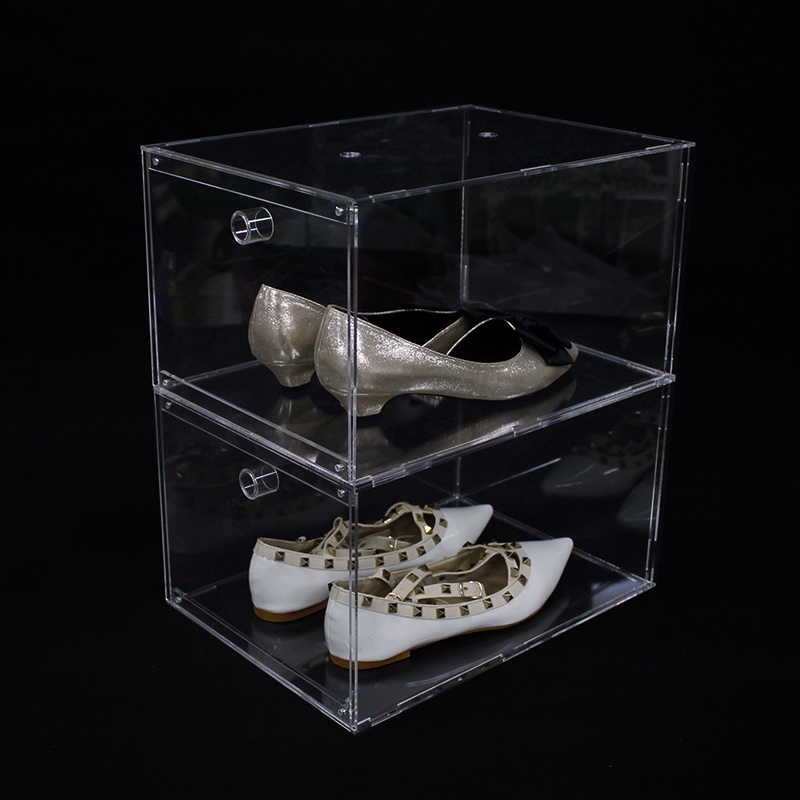 China Clear Stackable Acrylic Sneaker, Shoe Glass Case